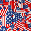 American flags Background — Stock Photo