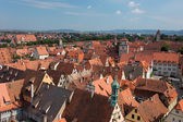 Aerial view over Rothenburg ob der Tauber, Germany — Stock Photo