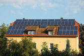 House with solar panels on the roof in germany — Stock Photo