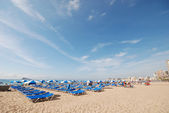 Beach in Benidorm, Spain — Stock Photo