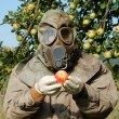 Man in gas mask — Stock Photo #32001793