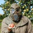 Man in a gas mask — Stock Photo #32002397