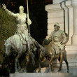 Spain Square, Madrid, Don Quijote and Sancho Panza — Stock Photo