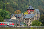 Castle and Train — Stockfoto