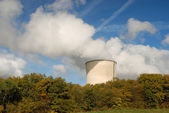 Cooling tower af a nuclear power station — Stock Photo