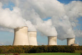 Cooling towers of a nuclear power station — Stock Photo