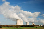 Cooling towers of an atomic power station — Stock Photo