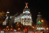 Gran via in madrid, spanien — Stockfoto