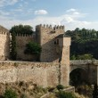 Ancient city wall in Toledo, Spain — Stockfoto