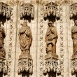 Apostles statues at the facade of cathedral in Sevilla, Spain — Stock Photo