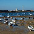 Boats on the beach in Cadiz, Southern Spain — Stock Photo