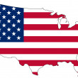 Map of the United States of America in national colors — Foto Stock