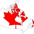 Stock Photo: Map of Canada
