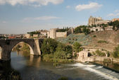 Bridge over the Tagus river, Toledo, Spain — Stock Photo