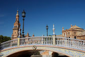Beautiful bridge on Plaza de Espana in Seville, Spain — Stock Photo