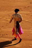 Torero dans l'arène de tauromachie en espagne — Photo