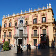 Bishop palace (Palace Episcopal) at the Plaza of the Bishop in Malaga, Spain — Stock Photo