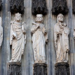 Sculptures at the Cologne Cathedral, Germany — Stock Photo