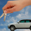 Handing over the Car Keys — 图库照片
