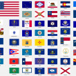States flags of the united states of america — Foto Stock
