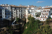 Houses at the abyss in Ronda, Spain — Stock Photo