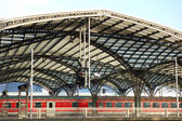 Railway Station in Cologne, Germany — Foto Stock