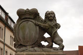 Lion Statue in Hamelin, Germany — Stock Photo