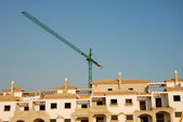 Residential houses construction site — Stockfoto