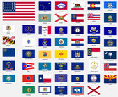 States flags of the united states of america — Stock Photo