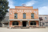 Saloon in an old American western town — Stock Photo