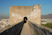 Ramparts of the Castillo de Gibralfaro in Malaga, Andalucia Spain. — Stock Photo