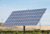 Solar panel in an orange plantation in Spain — Stock Photo