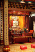 Buddha statue in a temple in Shanghai, China — Stock Photo
