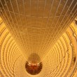 Stock Photo: Atrium of Grand Hyatt Shanghai Hotel in Jin Mao Tower (Golden Prosperity Building) in Pudong, Shanghai, China