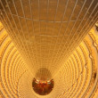 Atrium of the Grand Hyatt Shanghai Hotel in the Jin Mao Tower (Golden Prosperity Building) in Pudong, Shanghai, China — Stock Photo