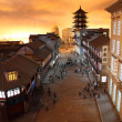 Miniature model of the old Shanghai, China — Stock Photo