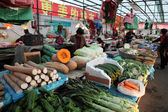 Vegetables market in Shanghai, China — Stock Photo