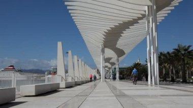 Muelle Uno in Mallaga, Spain — Stock Video