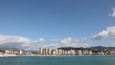 Skyline of Malaga, Spain — Stock Video