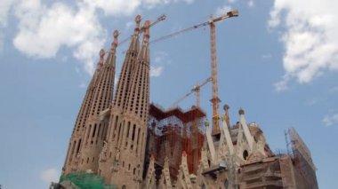 圣家族教堂。西班牙巴塞罗那 — 图库视频影像