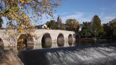 Bridge in Wetzlar, Germany — Stock Video