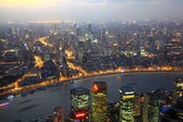 City of Shanghai at dusk, China — Stock Photo