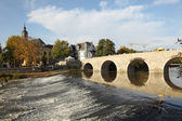 Old bridge over the Lahn river in Wetzlar, Germany — Stock Photo