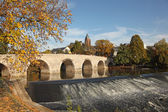 Old stone bridge over the Lahn river in Wetzlar, Germany — Stock Photo