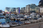 The Ocean Village Marina in Gibraltar — Stock Photo