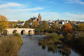 Lahn river in the old town Wetzlar, Germany — Stock Photo