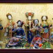 Traditional chinese miniature figurines in a souvenir shop. Shanghai, China — Stock Photo