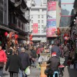 Busy street in the old town of Shanghai, China — Stock Photo
