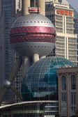 Modern arkitektur i pudong, shanghai, kina — Stockfoto