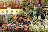 Traditional chinese miniature figurines in Shanghai, China — Stock Photo
